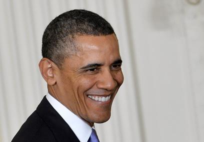 מגיע חופשי ומשוחרר יחסית. אובמה (צילום: AFP)