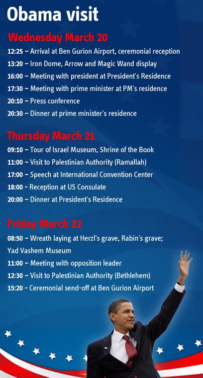 Obama's itinerary