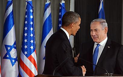 הידוק שיתוף הפעולה, נתניהו ואובמה (צילום: AFP)