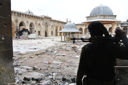 ליד מסגד הרוס בחלב. היה או לא היה נשק כימי? (צילום: MCT)
