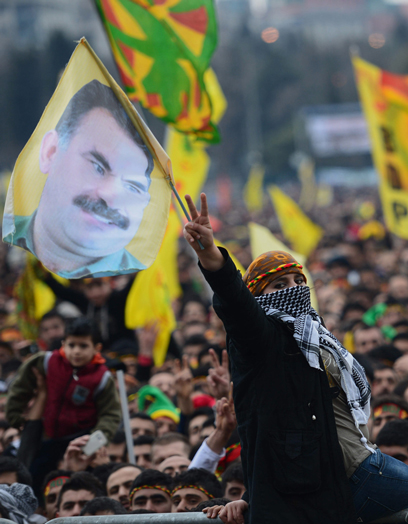 Kurds protest in Istanbul (Photo: AP)