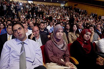 הקהל בבנייני האומה (צילום: AFP)
