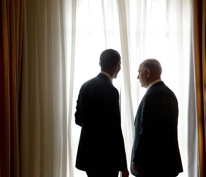"""עם ראש הממשלה נתניהו. גורלנו ועתידנו נתונים בידינו (צילום: אבי אוחיון, לע""""מ)"""
