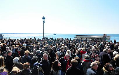 הקהילה היהודית הופתעה ממצעד התמיכה. סלוניקי בשבוע שעבר  (צילום:  'Michael Thaidigsmann/World Jewish Congress')