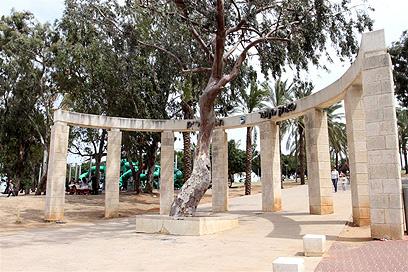 גן הפילבוקס בשכונת תל גיבורים שבו הותקף הקשיש  (צילום: עופר עמרם)