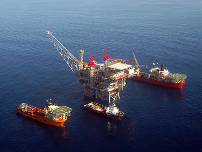 פלטפורמת הפקת הגז של תמר (צילום: אלבטרוס)