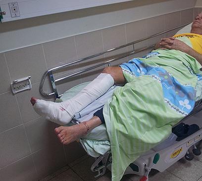 אורון בבית החולים (צילום: ליאור ראם)