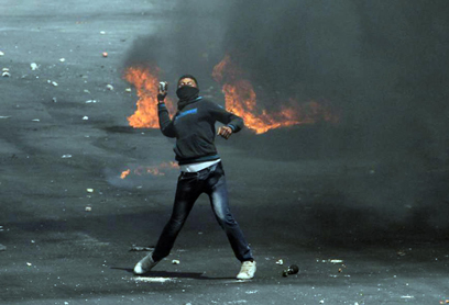"""מהומות בגדה. """"לא מתקרבים לאינתיפאדה שלישית"""" (צילום: גיל יוחנן)"""