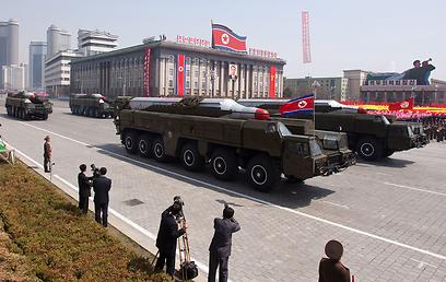 טילי מוסודן צפון קוריאניים. ארכיון (צילום: AFP)