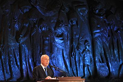 נשיא המדינה שמעון פרס, הערב (צילום: גיל יוחנן)