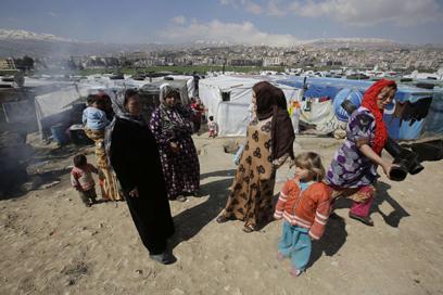 פליטות סוריות בלבנון. היקף האונס בסוריה לא ברור (צילום: AFP)