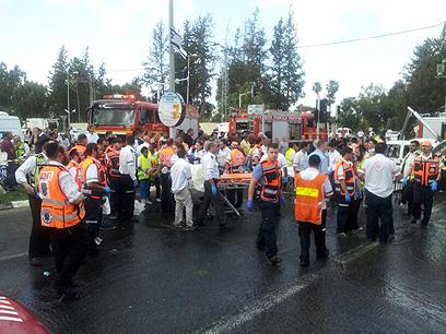"""במד""""א הכריזו על אירוע רב נפגעים (צילום: באדיבות דוברות מד""""א)"""