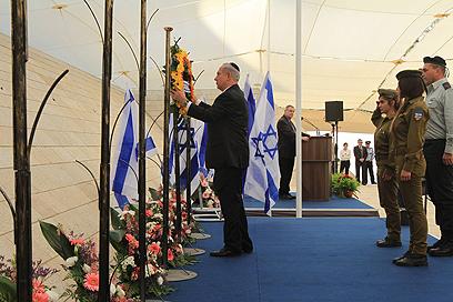 """נתניהו, היום בירושלים. """"גם משפחתי שילמה את המחיר"""" (צילום: גיל יוחנן)"""