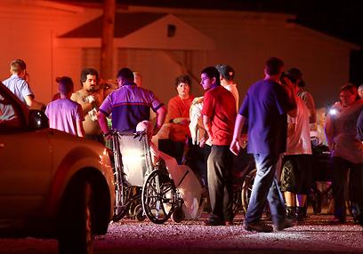 תושבים פונו מהאזור (צילום: AP)