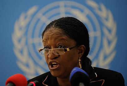"""בנגורה באו""""ם. """"פשע המלחמה העתיק ביותר, שזוכה לגינוי המועט ביותר"""" (צילום: AFP)"""