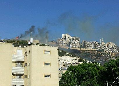 השתלטו על האש בחיפה  (צילום: אושר טקאטש)