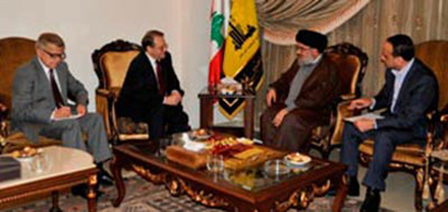 נסראללה בפגישה עם סגן שר החוץ הרוסי אמש