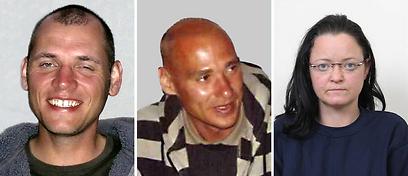 צ'אפה, מונדלוס ובנהרדט. הם התאבדו, היא הסגירה עצמה למשטרה (צילום: AFP)