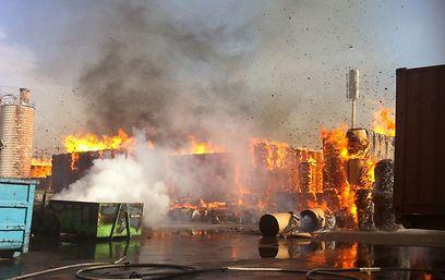 טרם הושגה שליטה על האש (שירותי כיבוי אש מחוז מרכז)