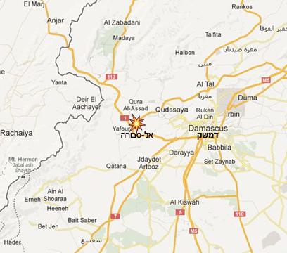 לפי דיווח בלבנון, זה המקום שהותקף  (צילום: Google maps)