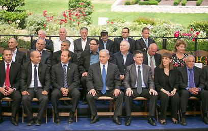 עסקים כרגיל. נתניהו בישיבת הממשלה המיוחדת היום בהר הרצל (צילום: נועם מושקוביץ)