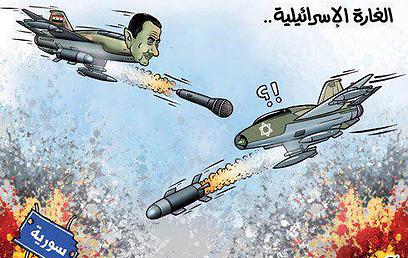 ישראל מפציצה את סוריה, אסד תוקף אותה - במילים בלבד