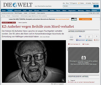 """גורש מארה""""ב משום ששיקר לגבי עברו הנאצי. ליפשיס (צילום: אתר די ולט)"""