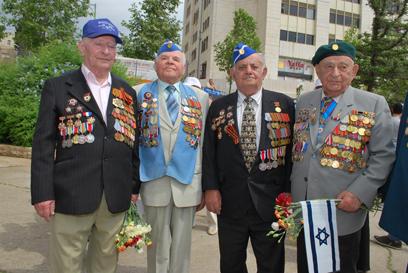 המצעד בבירה (צילום: ארטיום דגל, ארגון נכי המלחמה בנאצים)