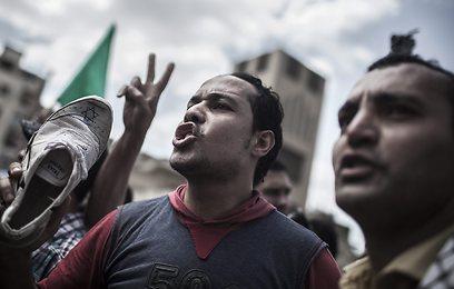 הפגנה האחים המוסלמים (צילום: EPA)