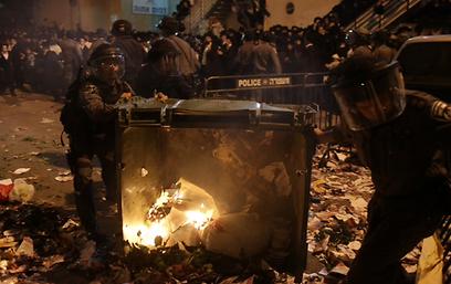 ההפגנה האלימה בירושלים (צילום: אוהד צויגנברג)
