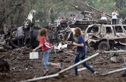 הרס בכל מקום. העיר מור באוקלהומה (צילום: רויטרס)