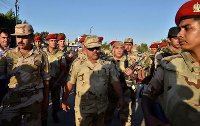 כוחות צבא מצרים ברפיח (צילום: AFP)