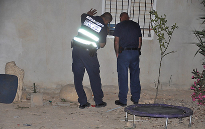 זירת הרצח ביישוב אל-פורעה (צילום: בן שיף, עיתון הצבי ערד)