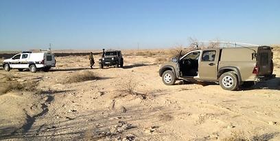 אזור ההתרסקות, הבוקר (צילום: יחידת חילוץ ערבה)