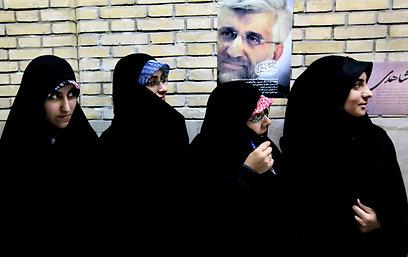 תומכות של המועמד סעיד ג'לילי (צילום: AP)