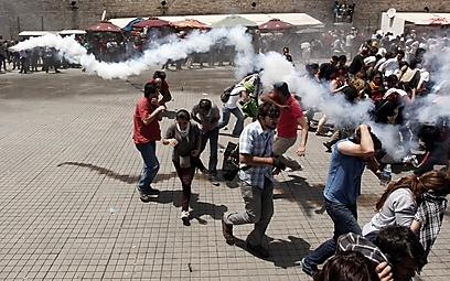 גז מדמיע הבוקר באיסטנבול (צילום: רויטרס)