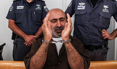 נאשם בעבירות ביטחוניות. זאהר עומר יוספין בבית המשפט (צילום: אבישג שאר-ישוב)