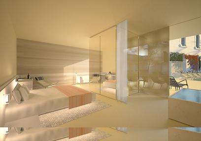 כך ייראה חד במלון. המחירים: כנראה סביב 350 דולר ללילה (צילום: Felix Montesquiou)