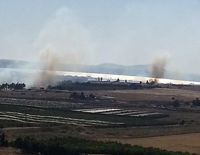 אזור קרבות סמוך לקונייטרה, הבוקר (צילום: גילי סיוון )