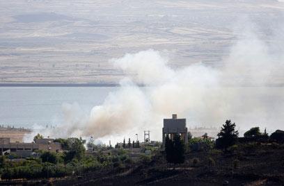 קרבות בין כוחות סוריים באזור קוניטרה (צילום: רויטרס)
