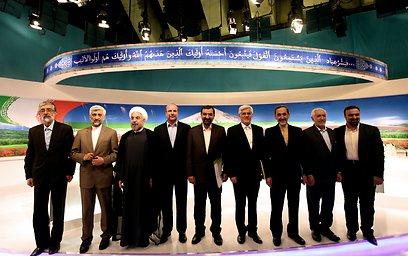 המועמדים בעימות. 4 שעות על הגרעין (צילום: AFP)