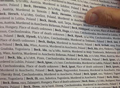 """ספר השמות, מבט מבפנים (צילום: אלדד בק """"ידיעות אחרונות"""")"""
