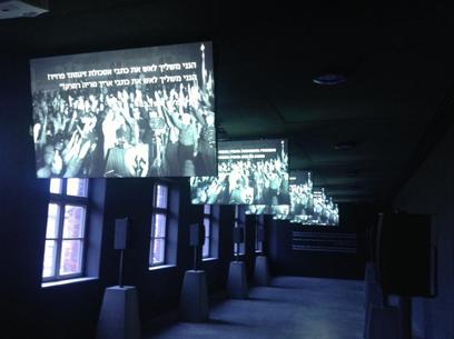 """המיצג בתערוכה בבלוק 27 (צילום: אלדד בק """"ידיעות אחרונות"""")"""