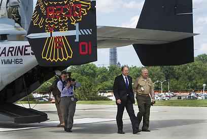 ה-V-22. בדרך לישראל (צילום: AFP)