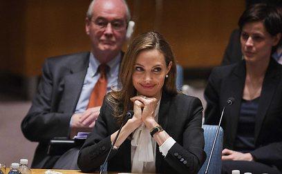 """אנג'לינה ג'ולי במועצת הביטחון של האו""""ם (צילום: רויטרס)"""