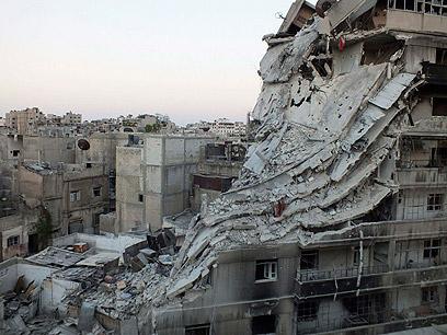 הרס בעיר חומס. מיקום אסטרטגי חשוב (צילום: רויטרס)