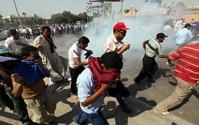 העימותים אחר הצהריים שבהם נהרגו 3 מתומכי מורסי (צילום: EPA)
