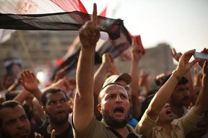 הפגנת האחים המוסלמים בקהיר (צילום: גטי אימג'בנק)