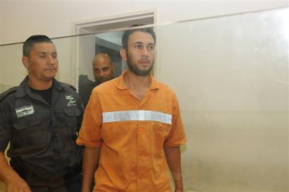 אבו רידה בבית המשפט בבאר שבע (צילום: הרצל יוסף)