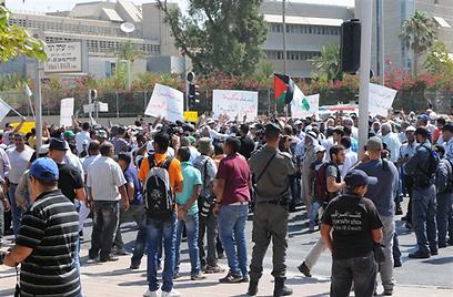 מפגינים בבאר שבע (צילום: הרצל יוסף)